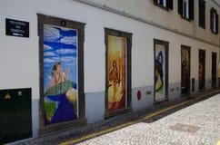 Street art - open door art - doors Royalty Free Stock Photography