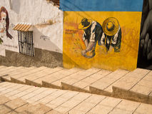 Street Art in Orihuela, Alicante - Spain Royalty Free Stock Photo