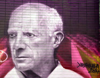 Street art Pablo Picasso Stock Photography