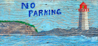 Street art in Peggy's Cove Royalty Free Stock Photography