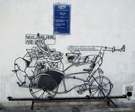 Street Art at Penang, Beca stock images