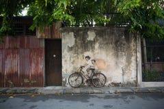 Street art in Penang royalty free stock photo