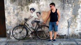 Street art in Penang Malaysia Stock Photos