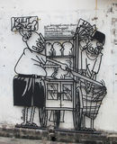 Street Art at Penang, Roti Benggali Royalty Free Stock Images
