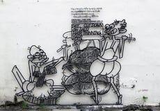 Street Art at Penang - Too Salty Royalty Free Stock Photo