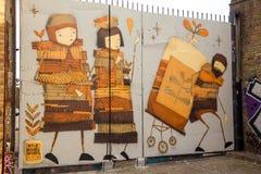 Street art. Photography of a street art in London streets, UK vector illustration