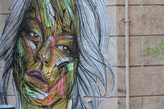 Street Art Portrait Stock Image