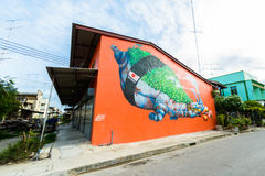 "Free Street Art Project ""70110 : Ban Pong Urban Art Terminal 1/201 Stock Image - 95058091"