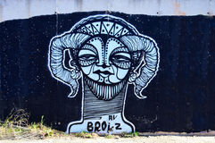 Street Art Ram's Head Royalty Free Stock Photos