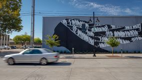 Street art in Sacramento, California royalty free stock photos