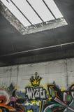 Street Art. Of Sacramento displaying art inside a parking garage Royalty Free Stock Photo