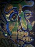 Street art. Sad man art Royalty Free Stock Images
