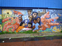 Street art in San Francisco. The Mission District, also commonly called The Mission, is a neighborhood in San Francisco, California, United States. Numerous Royalty Free Stock Image