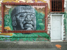 Street art in San Francisco. The Mission District, also commonly called The Mission, is a neighborhood in San Francisco, California, United States. Numerous Stock Photos
