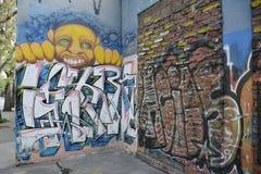 Street art in Santiago, Chile Stock Photo