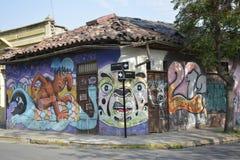 Street art in Santiago, Chile Royalty Free Stock Photos
