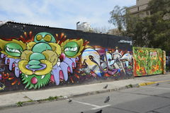 Street art in Santiago, Chile Stock Photography