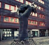 Street_art_Sculpture_The rose_Oslo_2018 stock photography