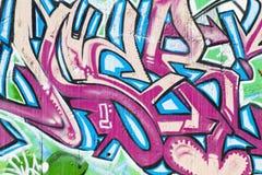Street Art, Segment Of An Urban Grafitti On Wall Royalty Free Stock Photos