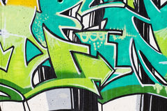 Street art, segment of an urban grafitti on wall Stock Image