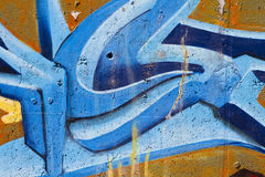 Street art, segment of an urban grafitti on wall Royalty Free Stock Photography