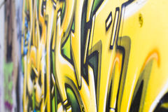Street art, segment of an urban grafitti on wall Stock Photography