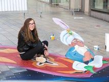 Street art showing optical illusion Stock Photos