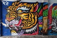 Street Art Streetart in Malaysia. Street Art in the Streets of Malaysia Royalty Free Stock Image