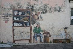 Street Art Streetart in Malaysia. Street Art in the Streets of Malaysia Royalty Free Stock Photo