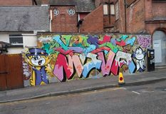 Street Art - Top Cat and Benny Royalty Free Stock Image