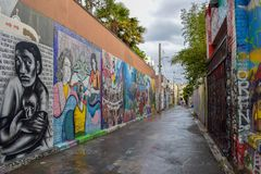Street Art und Wandgemälde San Franciscos im Auftrag-Bezirk stockfotos