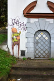 Street art by unidentified artist, Vilnius Royalty Free Stock Photos
