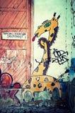 Street art in Uzhgorod city Royalty Free Stock Photos