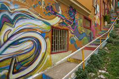 Street Art of Valparaiso Royalty Free Stock Photos