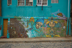 Street Art of Valparaiso Royalty Free Stock Photography
