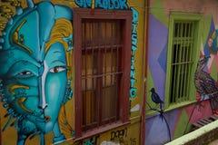 Street Art of Valparaiso Royalty Free Stock Image