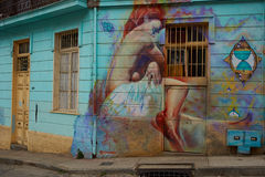 Street Art of Valparaiso Stock Photo