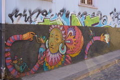 Street Art of Valparaiso Royalty Free Stock Photo