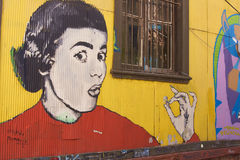 Street Art of Valparaiso in Chile Stock Photography