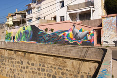 Street Art of Valparaiso Royalty Free Stock Image