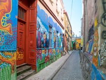 Street Art of Valparaiso Stock Images
