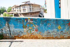 Street art Valparaiso Royalty Free Stock Photo
