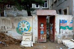 Street art on wall in Baku, capital of Azerbaijan Royalty Free Stock Photography