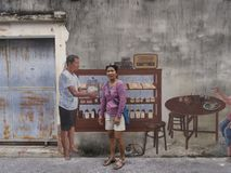 Street art on Wall in Songkhla Thailand. 01/30/2017 Royalty Free Stock Photos