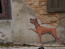 Street art on Wall in Songkhla  Thailand. 01/30/2017 Royalty Free Stock Photo