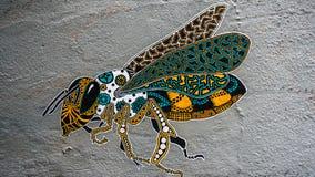 Street art wasp bee royalty free stock photos