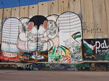 Street Art on West Bank wall in Bethlehem. Photo took in Bethlehem, West Bank royalty free stock images