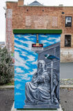 Street art which is located in Dunedin, New Zealand Stock Images