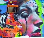 Street art woman Stock Photo