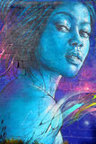Street art woman in Paris France Royalty Free Stock Photography